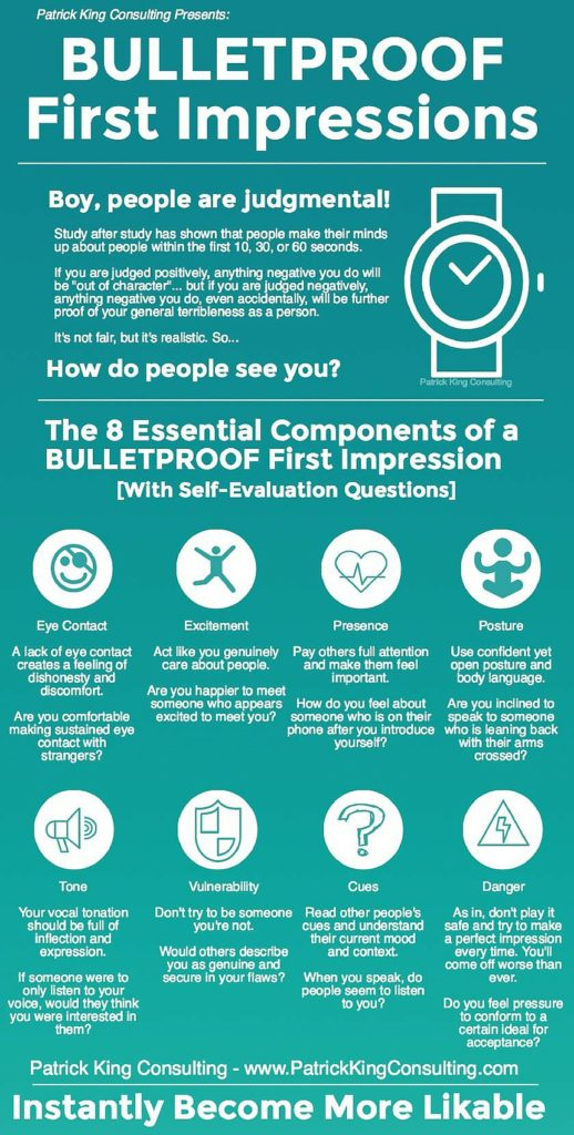 bulletproof first impressions infographic